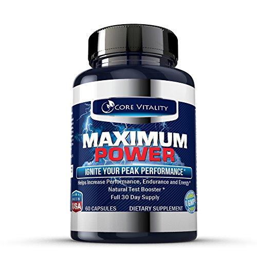 Puissance maximale - # 1 Naturel Testostérone Supplément pour les hommes - extrêmement puissante formule toute naturelle avec Tongkat Ali - augmente la testostérone, Endurance, la croissance musculaire, Taille, Sex Drive et l'Endurance - 1 mois d'approvis