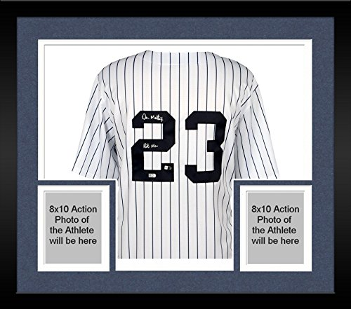 - Framed Don Mattingly New York Yankees Autographed White Majestic Cooperstown Collection Replica Jersey with
