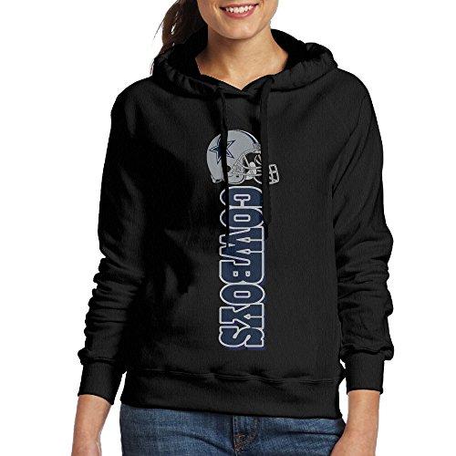 [SSDDFF Women's Dallas American Football Team Cowboys Hoodies Hooded Sweatshirt Size S Black] (Mens Dallas Cowboy Football Costumes)