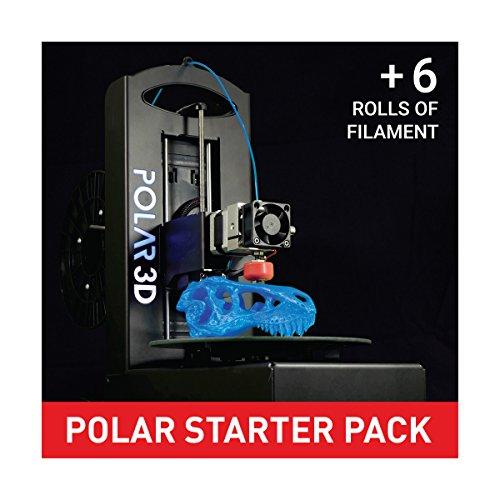 Polar 3D 394209 Printer Starter Pack, 1 Printer, 6 rolls of 1 kg Filament Polar 3D Printers