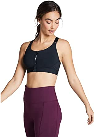 Rockwear Activewear Women's Mi Adjustable Zip Sports Bra From size 4-18 Medium Impact Bras For