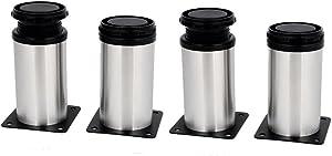 uxcell Kitchen Cabinet Cupboard 50mmx100mm Metal Adjustable Furniture Leg Foot 4pcs
