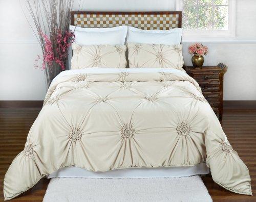 Empress Silk Fiona Comforter Set - Queen - Pearl