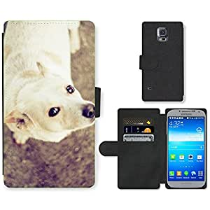 hello-mobile PU LEATHER case coque housse smartphone Flip bag Cover protection // M00136651 Perro de mascota dulces lindos Eyes // Samsung Galaxy S5 S V SV i9600 (Not Fits S5 ACTIVE)