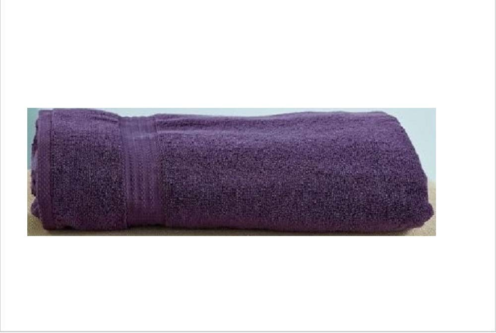 34'' x 68'' Oversized Zero Twist Cotton Bath Sheets (Plum)