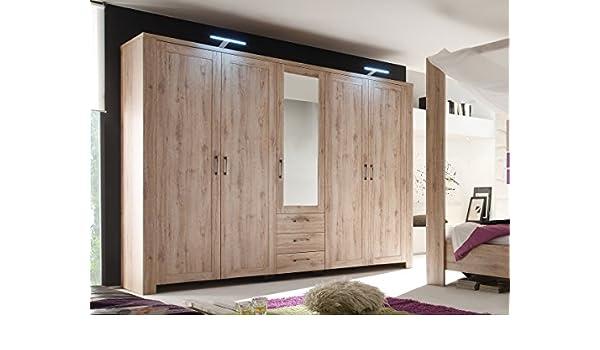 LEROY armario roble San Remo claro Ancho: 287 cm: Amazon.es: Hogar