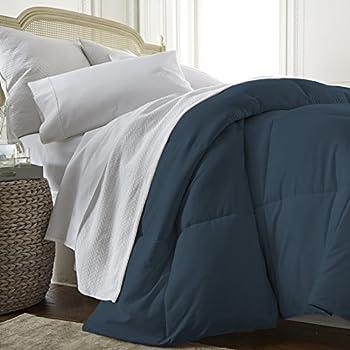 Amazon Com Martex Reversible Twin Comforter Navy Ceil