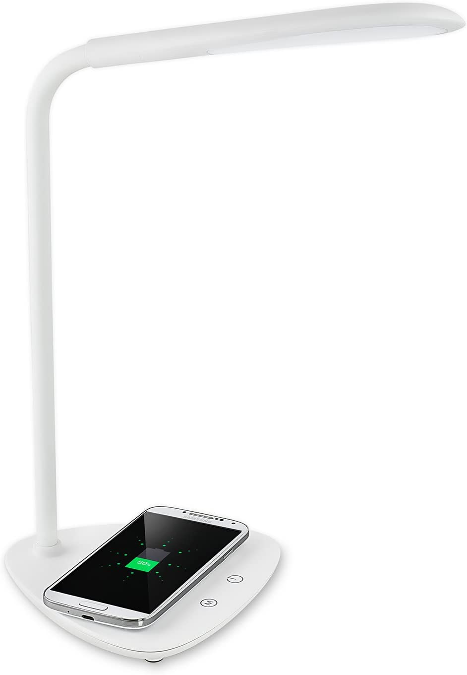 Turcom LED Desk Lamp With Wireless Charger, Adjustable Light Temperature and Intensity