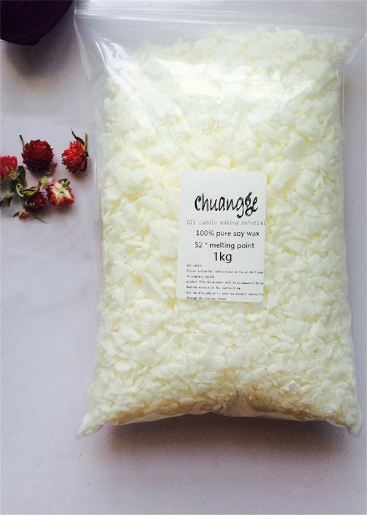 Gano Zen Candle Making 100% Pure Soy Wax Ivory White Slice Aromatherapy Candle Making Supplies Wax Flake DIY Handmade Scents Pillar Candle 1kg