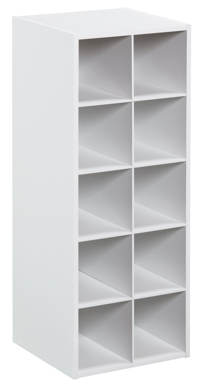 ClosetMaid 1545 Stackable 10-Cube Organizer, White by ClosetMaid