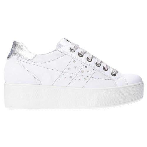 IGI&CO Scarpe Donna Sneakers con Platform 3155922 Platino