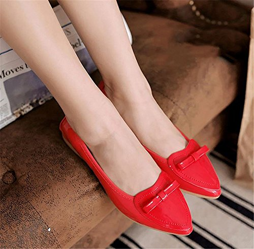 Women Slip Comfort Flats on Ballet Walking Red Shoes Girls Casual AwrAZx