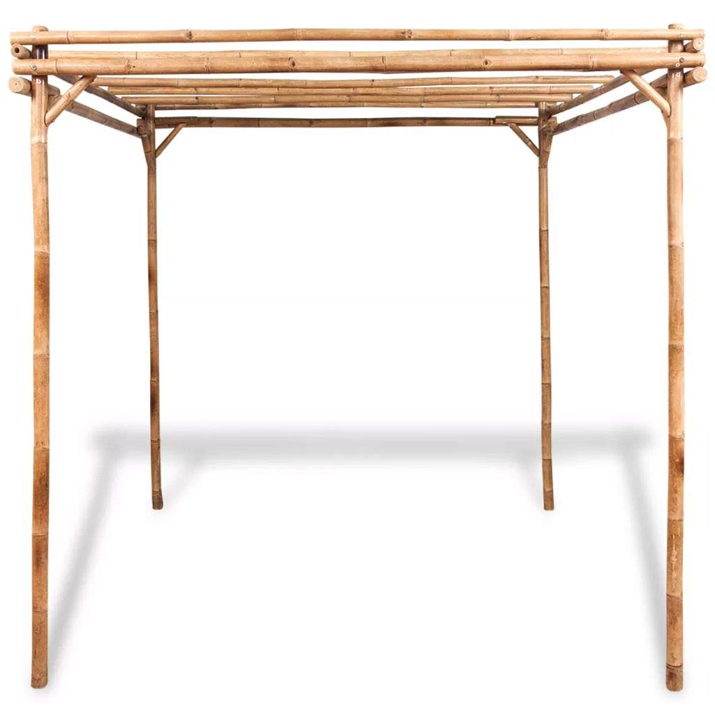mewmewcat Upgraded Pergola Bamboo for Outdoor Garden Patio Lawn 76.8''x 76.8''x 76.8'' by mewmewcat (Image #5)