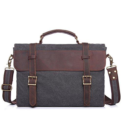 "Price comparison product image Men's Messenger Bag Waterproof Computer Laptop Case 13"" Briefcase (Color : Dark Gray)"
