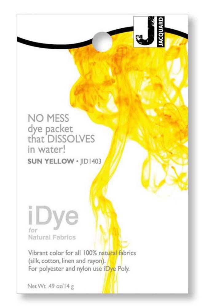 ジャカード織 iDye ファブリック染料 14 グラム太陽黄色   B001O5NF0C