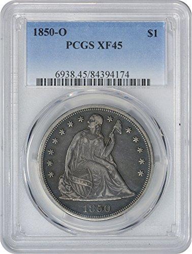 1850 O Liberty Seated Dollar XF45 PCGS