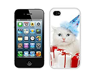 Hot Sell Christmas Cat White iPhone 4 4S Case 34 by Maris's Diary