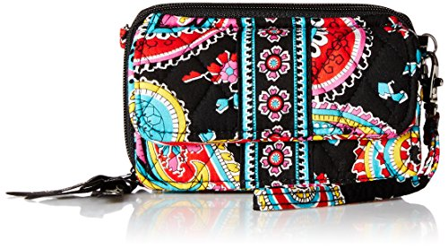 Vera Bradley All In One Crossbody Wallet Parisian Paisley One Size