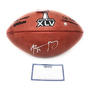Aaron Rodgers Green Bay Packers Signed Autograph NFL Authentic Super Bowl XLV Duke NFL Football Steiner Sports Certified
