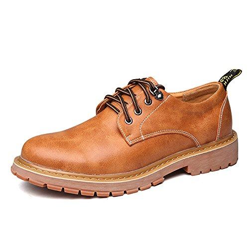 pour Taille Homme PU Hommes shoes Xujw 40 EU Casual en Soft Travail Chaussures de Flats Marron Lace Cuir 2018 Outsole Up Couleur Chaussures Orange R0qwFqPx