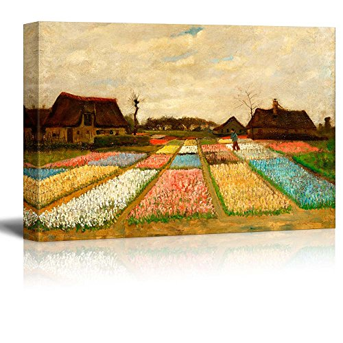 Bed Van Gogh (wall26 Bulb Fields (also called Flower Beds in Holland) by Vincent Van Gogh - Oil Painting Reproduction on Canvas Prints Wall Art, Ready to Hang - 24