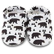 Clamfeet Organic Baby Shoes Organic Vegan Baby Shoes (1 | 0-6 Month, Bears)