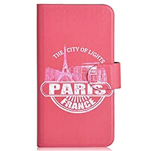 Generic Paris Eiffel Tower Design Card Slot Magnetic PU Leather Flip Case Cover Compatible For Lenovo A850