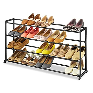 Whitmor Home Organizer Resin 20 Pair Shoe Rack - Black Finish