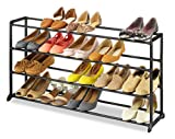 Laundry Room Floor Plans Whitmor 4-Tier 20 Pair Shoe Rack - Vertical Storage Bench, Space Saving Portable Home Shoe Organizer Tower Unit - Easy to Assemble - No Tools Required - Black Finish  9 x 35 x 18 Inch