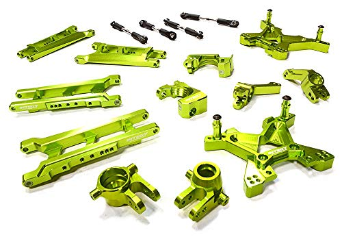 Integy RC Model Hop-ups C26319GREEN Billet Machined T3 Suspension Kit for 1/10 Stampede 4X4 & Slash 4X4 (Non-LCG) ()