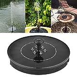 Longlasting Bomba de Fuente Solar, 2.4W LED Panel de Fuente de Agua para jardín Solar Fuente de flotación para pájaros Fuente de Agua para bebederos para pájaros o Estanques Luz de Noche de jardín
