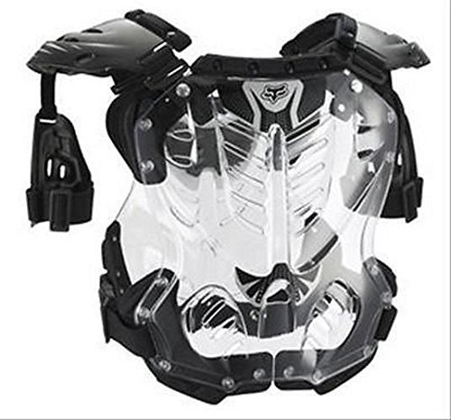 2015 FOX RACING R3 ADULT LARGE CHEST PROTECTOR (BLACK) #06091-001-L