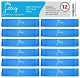Chair Bands for ADHD Kids - (12-Pack) Bouncy Kick Fidgets for Elementary, Middle, High School Students and Adults - Best for Classroom Chairs and Desk - (Light Blue) Fidget Feet Band by Feety