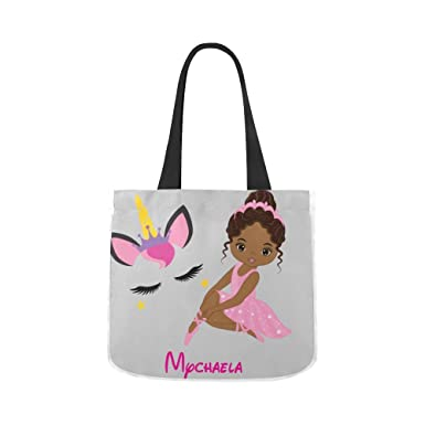 amazon com little ballerina with unicorn tote personalized girls