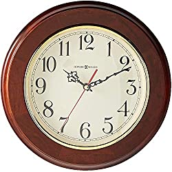 Howard Miller Brentwood Wall Clock 620-168 - Windsor Cherry & Round with Quartz Movement