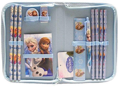(Disney Frozen Light Blue Stationery Set Pack with Case (13 Pcs))