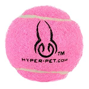 Hyper Pet Mini Tennis Balls for Dogs, Pet Safe Dog Toys for Exercise and Training, Pack of 4, Pink