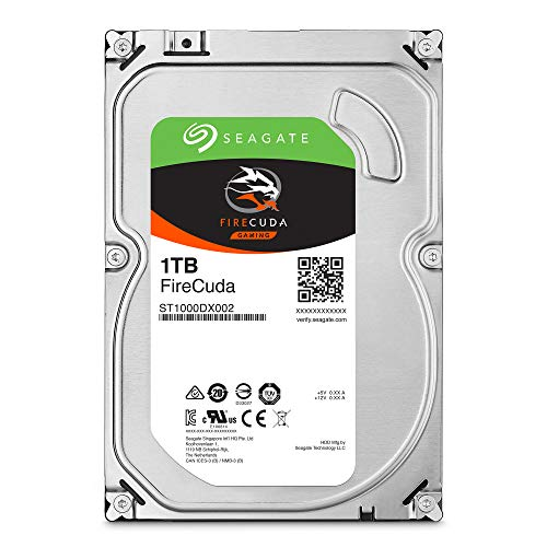 Seagate FireCuda 1TB Solid State Hybrid Drive Performance SSHD - 3.5 Inch Sata 6Gb/s Flash Accelerated Cache for Gaming PC Desktop (ST1000DX002)
