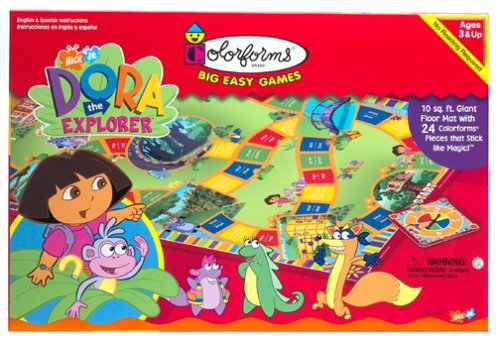 The Explorer Game Board Dora (Colorforms: Dora the Explorer Big Easy Game)