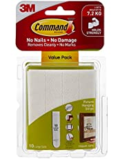 Command 17206VP Picture Hanging Strip Value Pack, Large, White