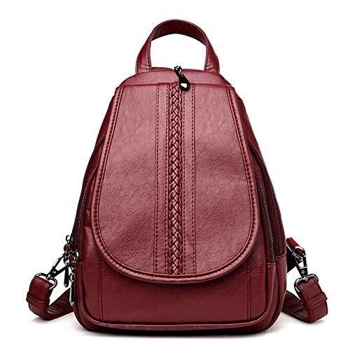 Véritable dos filles en femmes College adolescents Sac école Mochila Sac cuir pour Red sac VHVCX de les dos Femmes preppy à Voyage Femininas à mode 1Zt7xP