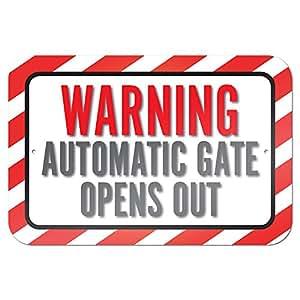Gr ficos y m s 22 9 x 15 2 cm advertencia de puerta for Puerta automatica no abre