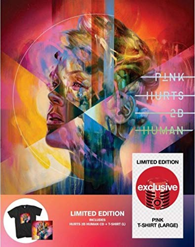 Price comparison product image PINK Hurts 2B Human LIMITED EDITION TARGET CD & T-SHIRT BOX SET To Be Human 2 BE
