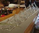 CVNC Set Of 7 PCS Healing Musical Insrument Quartz Crystal Singing Pyramid 4-10 Inch