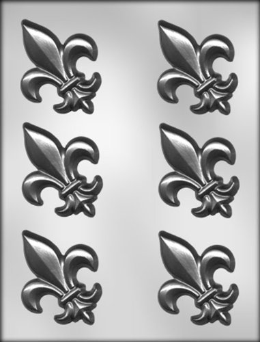 - CK Products 3-Inch Fleur De Lis Chocolate Mold