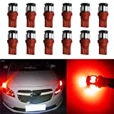 YaaGoo License Plate map dome Lights Lamp,T10 168 194 2825 W5W,Red,12pcs