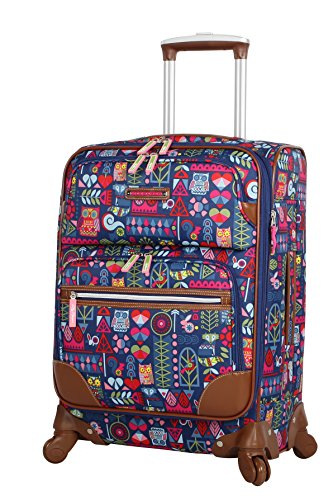 Lily Bloom Luggage Carry On Expandable Design Pattern Suitcase For Woman With Spinner Wheels (20in, Geo Critter) - Critter Pattern