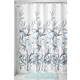 InterDesign Anzu Fabric Shower Curtain, 72x72-Inch, Mint and Gray