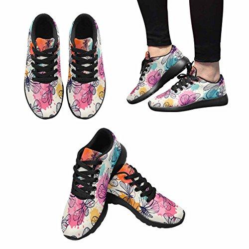 Interestprint Mujeres Jogging Running Sneaker Ligero Go Easy Walking Comfort Calzado Deportivo Multi 8
