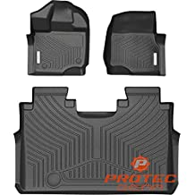Protec Gear 2015-2018 Ford F-150 SuperCrew Cab Front and Back Rows 3D Truck Floor Liner Mats All Weather 360 Degree Protection Multi-Dimensional Patented Non-Spill Dam and Digital Scanning Technology